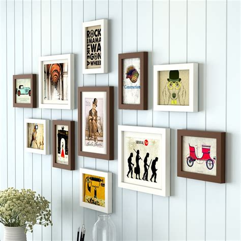 Living Room Decorating Ideas Picture Frames by 11 Pieces Set Cheap Photo Frames Set Wood Picture Frame