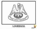 Louisiana Flag Coloring State Flags Pages Montana Idaho Yescoloring Gallant Maine Popular sketch template
