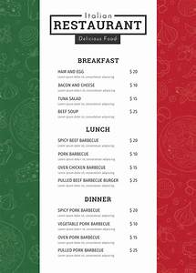 34 restaurant menu templates free sample example With easy menu templates free