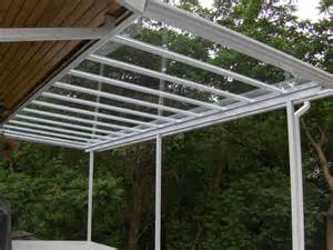 how to build a porch roof glass