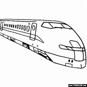Train And Locomotive Online Coloring Pages Page 1