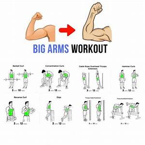 Big Arm Work Out Tutorial Step By Step