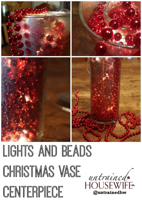drapey christmas lights lights and vase centerpiece