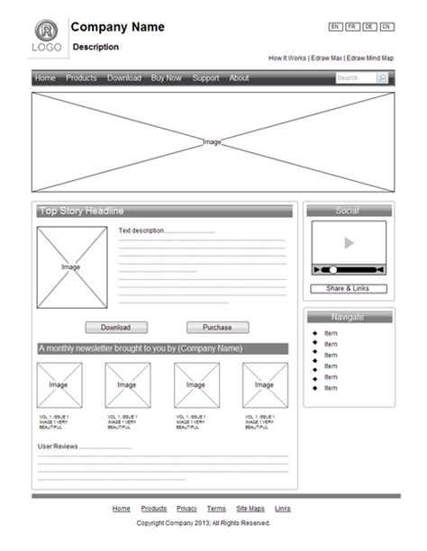 wireframe template wireframe exles site design