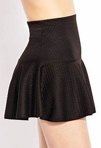 Forever 21 Quilted Cute Drop Waist Skirt In Black