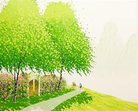 vietnamese landscapes painted  phan thu trang colossal