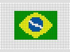 Flag of Brazil Pixel Art Brik Pixel Art Designs Pinterest