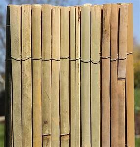 Bambus Edelstahl Sichtschutz : bambusmatte 2m x 1 5m bambus sichtschutzmatte zaun sichtschutz matte geschnitten ~ Markanthonyermac.com Haus und Dekorationen
