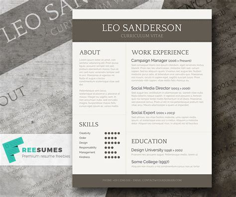 This Viral Resume May Impressed by Conservative And Creative Free Word Cv Template