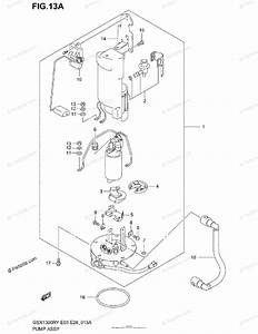 Suzuki Motorcycle 2000 Oem Parts Diagram For Pump Assy  Model K1  K2  K3