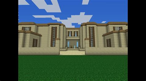 huge minecraft pe modern mansion   youtube