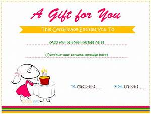 Printable Gift Certificate Template Gift Certificate