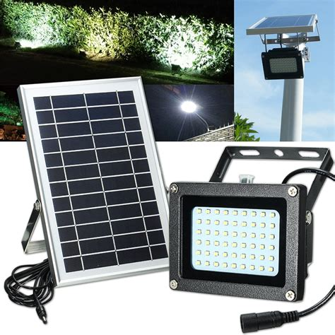 solar powered 54 led waterproof outdoor security panel