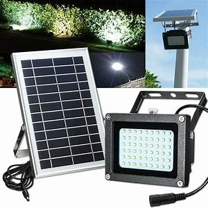 Solar Powered 54 LED Waterproof Outdoor Security Panel ...