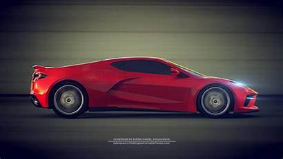 Corvette Chevrolet C8 Debut Wallpapers Event Carscoops