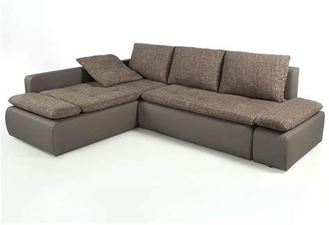 Ecksofa Sunrise 259x201cm Braun-beige Schlamm Couch Sofa