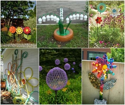 10 Creative Flower Crafts For Garden Made From Recycled