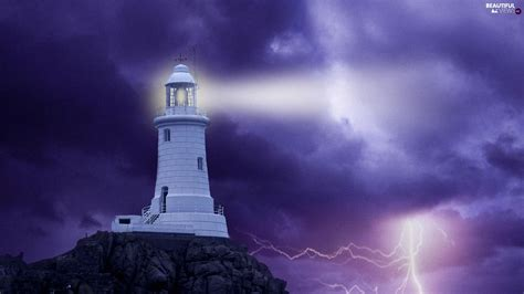 Animated Lighthouse Wallpaper - lighthouse thunderbolt maritime beautiful views