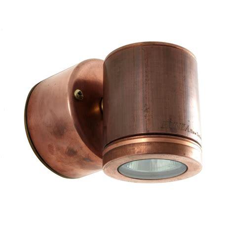hunza outdoor lighting wall light gu10 copper