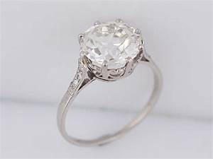 antique engagement ring art deco 293ct old european cut With wedding rings minneapolis