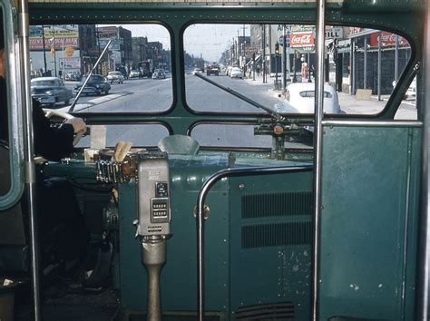 cta bus chicago interior 1950 ave window driver transit north buses 1950s inside authority 1957 illinois propane history collection drivers