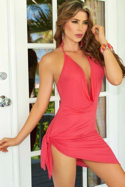 Flirty Ties Sexy Halter Dress   3WISHES.COM