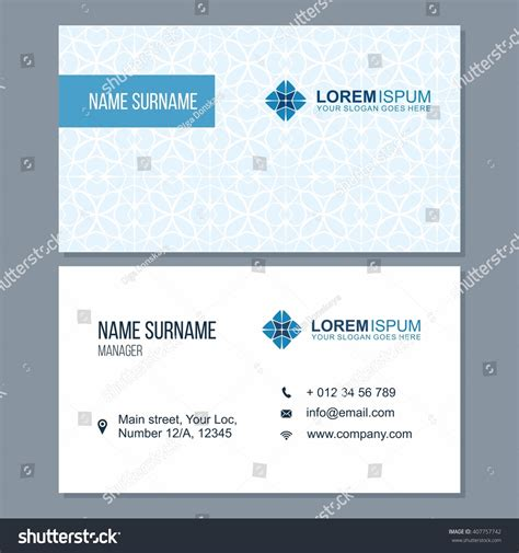 visiting card business card set abstract stock vector
