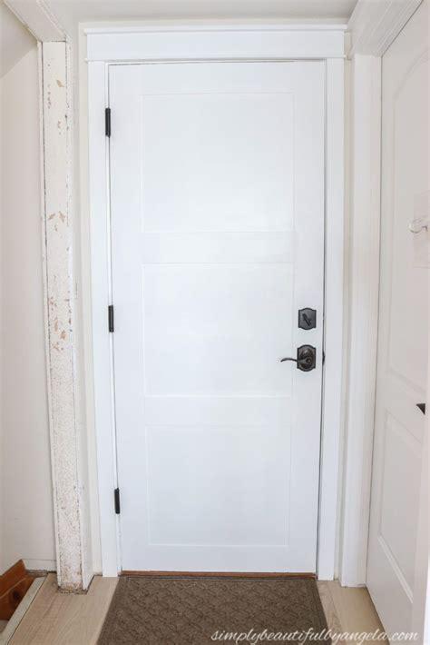 flat panel door budget makeover simply beautiful  angela   door makeover diy hollow