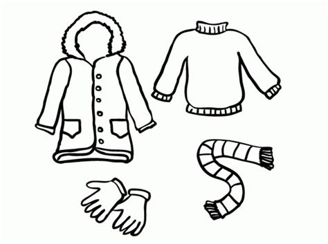 winter clothes coloring pages colouring pictures