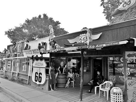 Picture Of Historic Route 66 Extrahyperactive Seligman The Beginning Of Historic