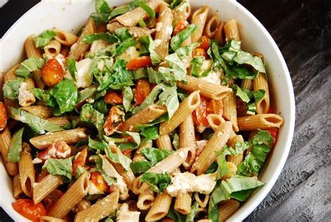 pasta salad dishes caprese pasta salad recipe 6 points laaloosh