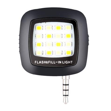 led flash fill light selfie andoer mini portable 16 led flash fill in light