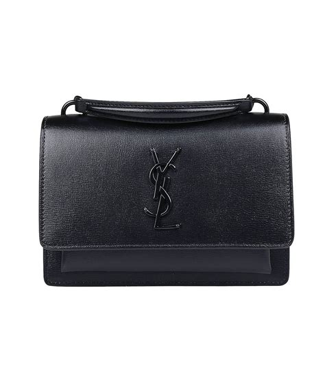 saint laurent ysl small sunset monogram bag  black