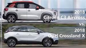 2018 Citroen C3 Aircross Vs 2018 Opel Crossland X  Technical Comparison