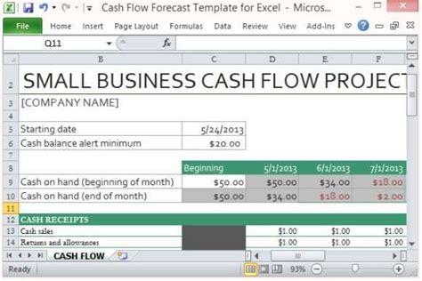 microsoft excel templates  cash flow excel templates