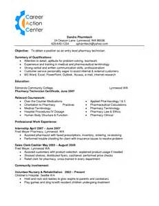 Certified Pharmacy Technician Resume Sle by Entry Level It Resume Exles And Sles Driver Cover Letter Statement Of Retained