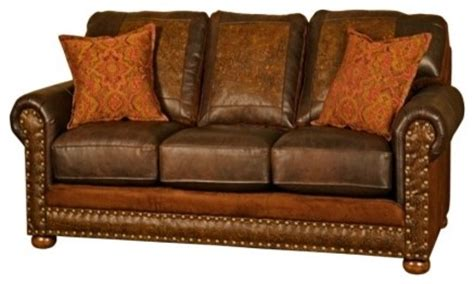 Southwestern Sofas by Western Rancher Style Leather Sofa Southwestern Sofas