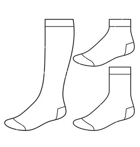 sock template socks vector pesquisa do flat sketch sock search and templates