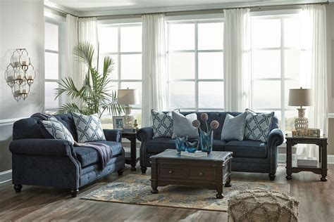 Lavernia Navy Living Room Set From Ashley