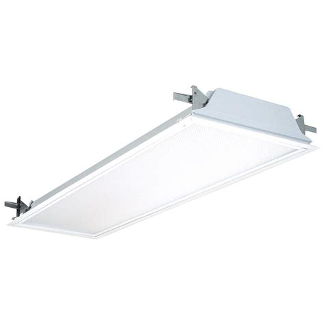 lithonia lighting 2 light white flanged fluorescent
