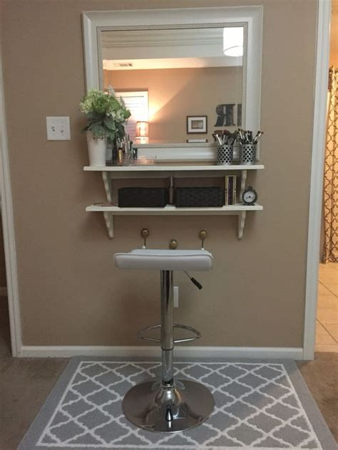 cheap makeup vanity diy make up vanity for cheap mirror from tj max and wood