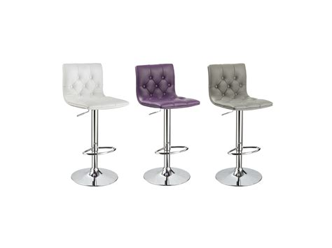 tabouret de bar capitonne lot de 2 tabourets de bar marlone simili 3 coloris