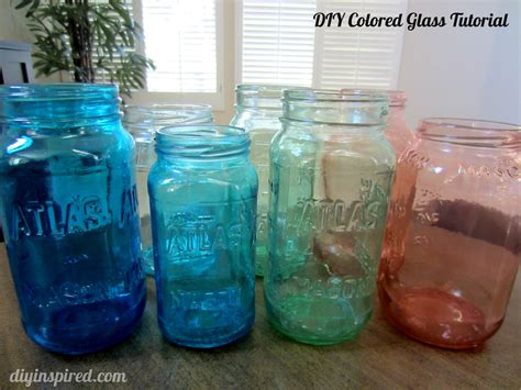 diy jar glasses diy colored glass tutorial diy inspired