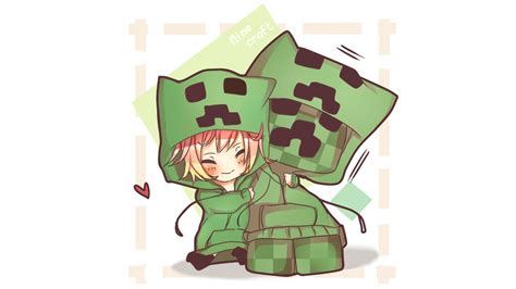 Anime Minecraft Wallpaper - minecraft anime creeper awesome wallpaper minecraft