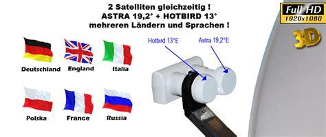 astra 19 2 einstellen digital sat anlage sch 252 ssel 80cm monoblock lnb