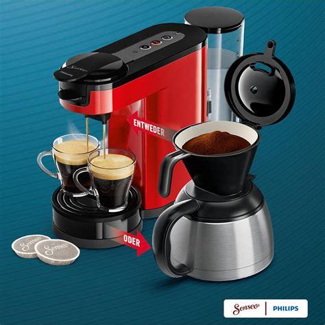 senseo filter für kaffeepulver de senseo hd7892 80 switch 2 in 1 kaffeemaschine