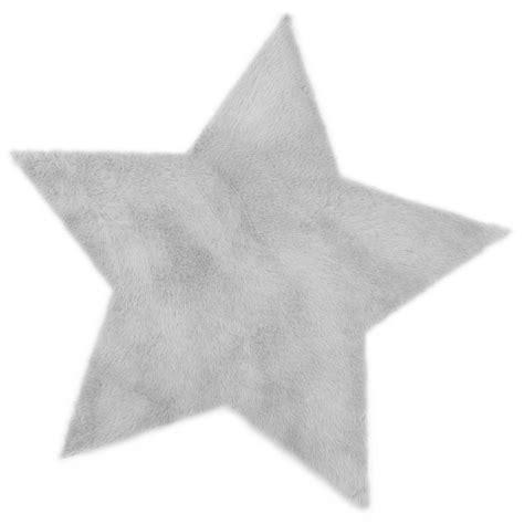 tapis etoile gris clair pilepoil pour chambre enfant