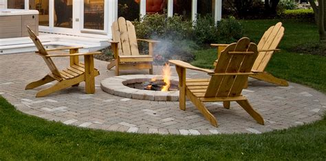 outdoor patio designs with pit patios fire pits archadeck of chicagoland outdoor living