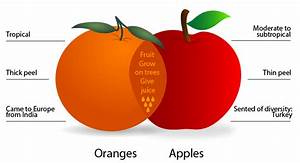 Venn Diagram  Compare Apples And Oranges  Compare And Contrast Essay