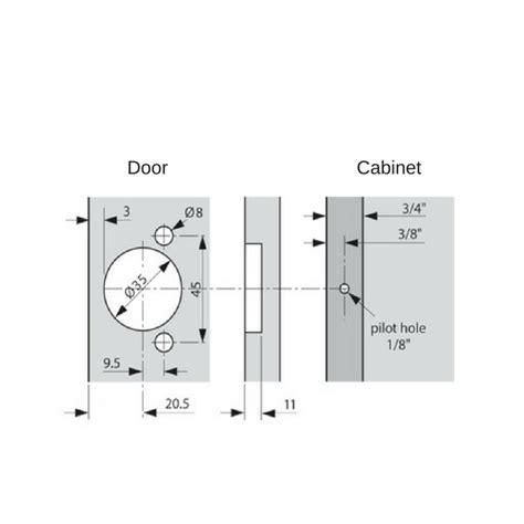 cabinet door pulls blum 38n355b 08 compact blumotion 1 2 partial overlay 105